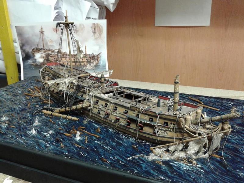 La fin du Glorieux (diorama de Curro Agudo) 110