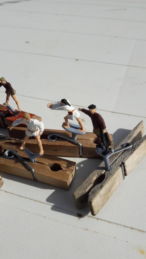 Quelques marins Espagnols au 1/72 ils Sont finis 1823