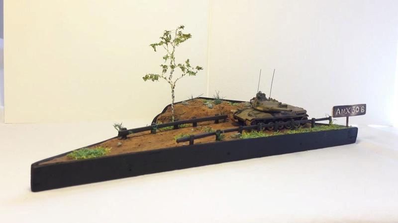 Diorama mise en situation de l'AMX 30 2818