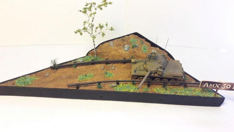 Diorama mise en situation de l'AMX 30 3018