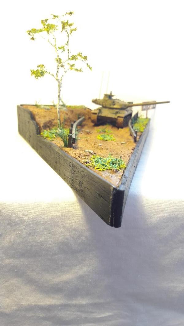 Diorama mise en situation de l'AMX 30 3121