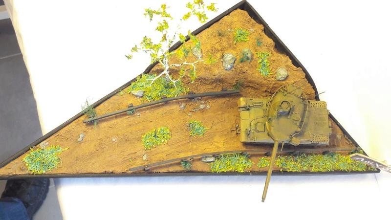 Diorama mise en situation de l'AMX 30 3220