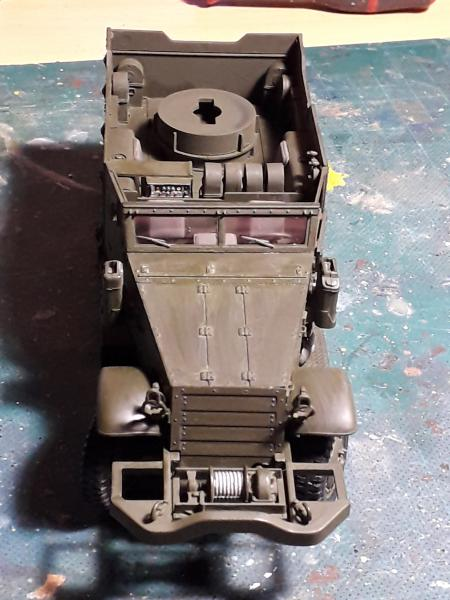 U.S. Multiple Gun Motor Carriage M16 1/35 Tamiya  FINI !!!!!!!! 3229