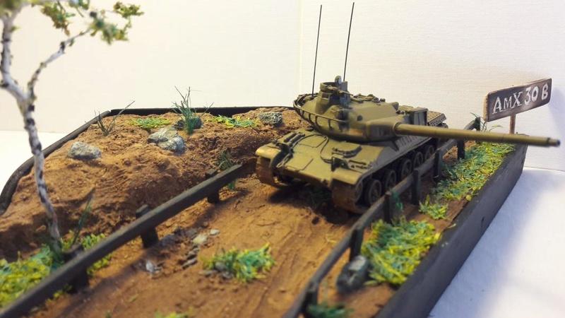 Diorama mise en situation de l'AMX 30 3320