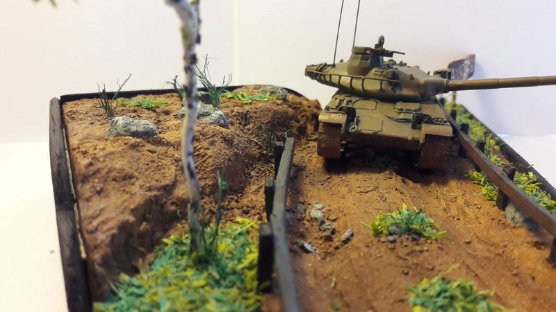 Diorama mise en situation de l'AMX 30 3418