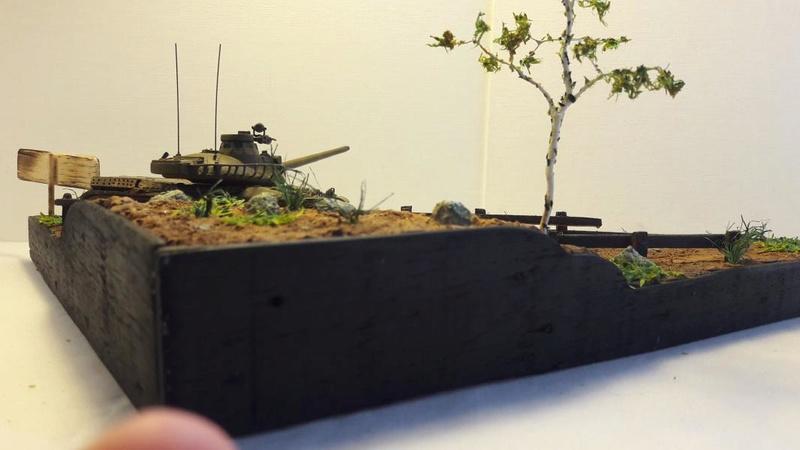 Diorama mise en situation de l'AMX 30 3518
