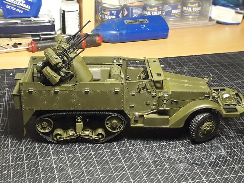U.S. Multiple Gun Motor Carriage M16 1/35 Tamiya  FINI !!!!!!!! 3724