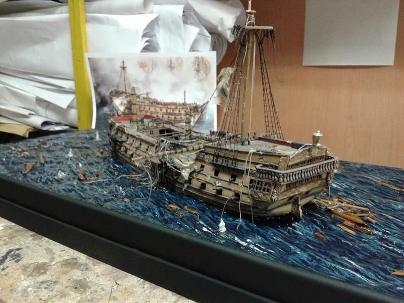 La fin du Glorieux (diorama de Curro Agudo) 410