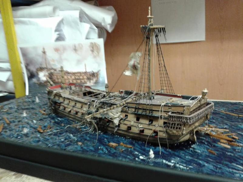 La fin du Glorieux (diorama de Curro Agudo) 610