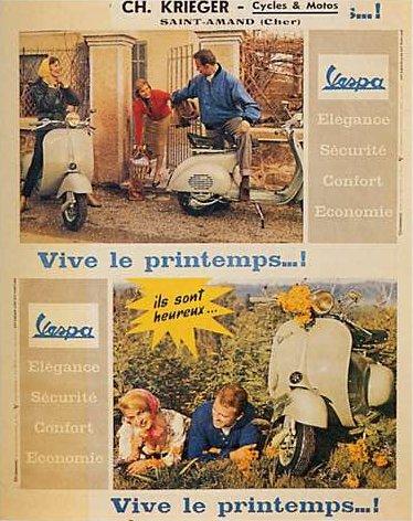 Publicités Vespa Piagg100