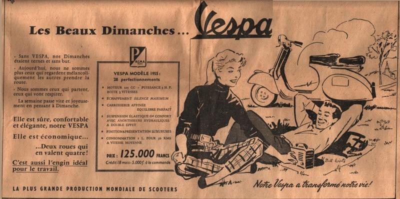 Publicités Vespa Piagg122