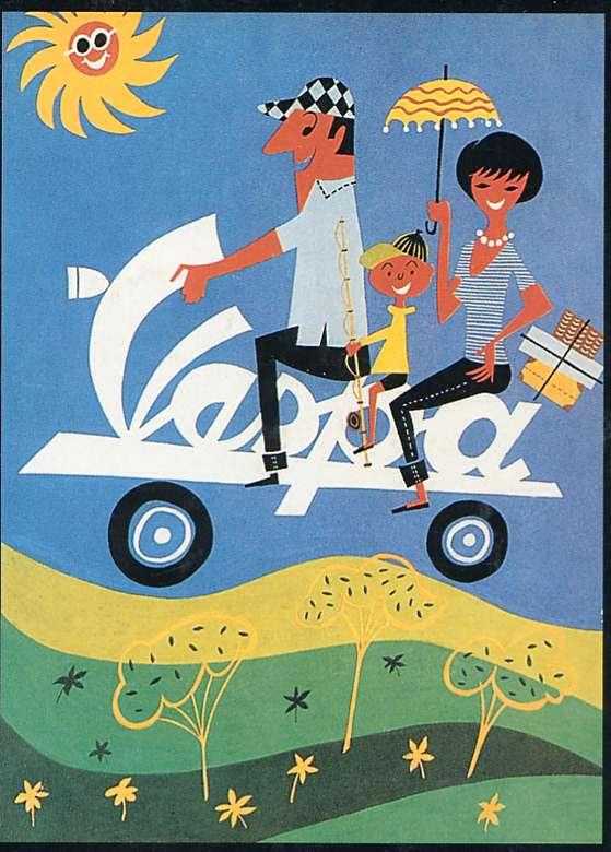 Publicités Vespa Piaggi55