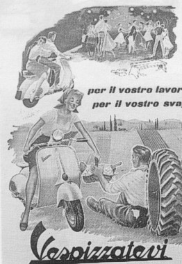 Publicités Vespa Piaggi56