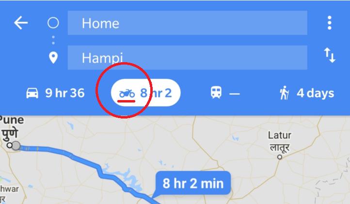 Google Maps avec un mode moto Snip_321