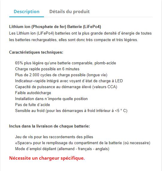 Batterie au Lithium pour moto - Des avantages non négligeables Snip_781