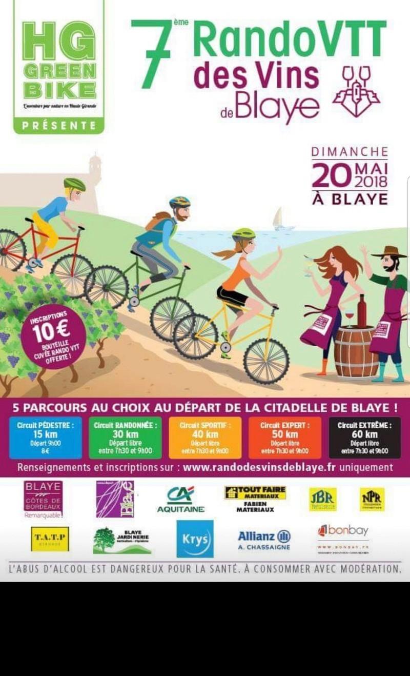 7ième Rando des vins de Blaye le 20 Mai 2018 20180510