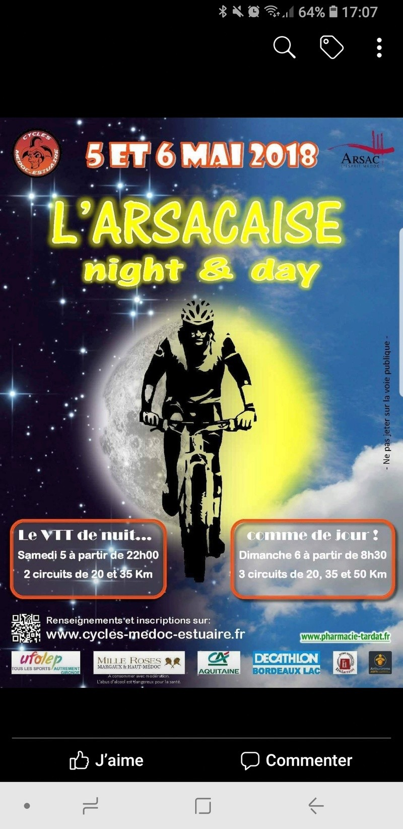 L'Arsacaise Night and Day 2018 le 05 et 06 Mai Screen30