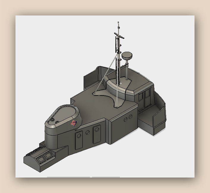 """MB """"Premuda"""" u crtežima CAD programa Fusion10"""