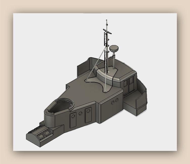 """MB """"Premuda"""" u crtežima CAD programa Fusion11"""