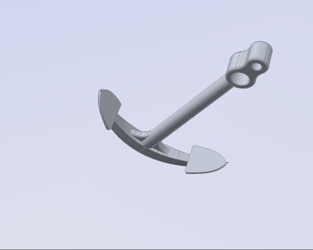Crtež sidra + 3D pisač Sidro-11