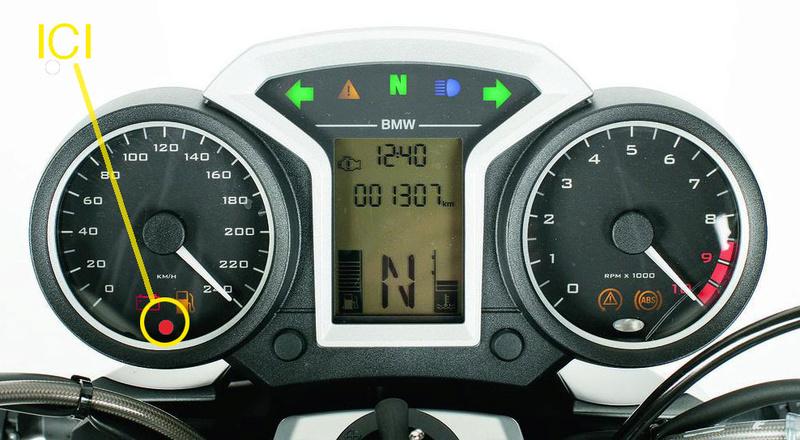 Voyant rouge compteur vitesse R1200R 2013 La-ele10