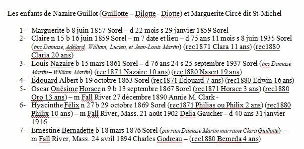 Mariage de William Damase Carleton Martin et Clara Guillot(te) - Page 2 Famill10