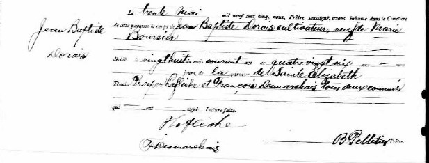 Recherche année et date du décès de Jean-Baptiste Doré et de son épouse Marie Boursier Sjbted10
