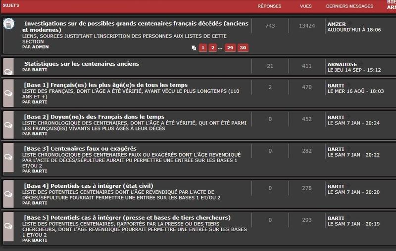 A- RECHERCHES SUR DE POSSIBLES CENTENAIRES DÉCÉDÉS - Page 4 Forum10