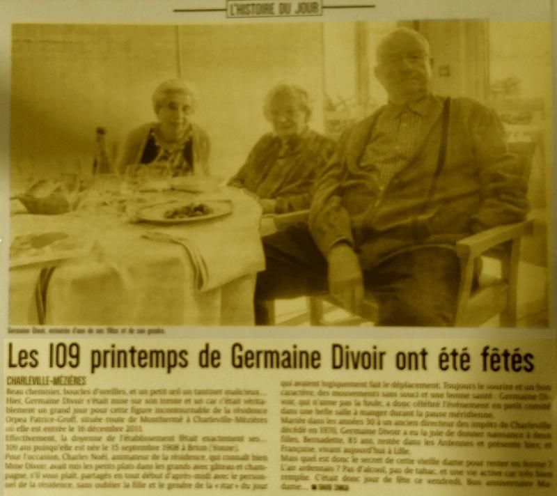 Preuves de vie récentes sur les personnes de 109 ans - Page 5 Germai10