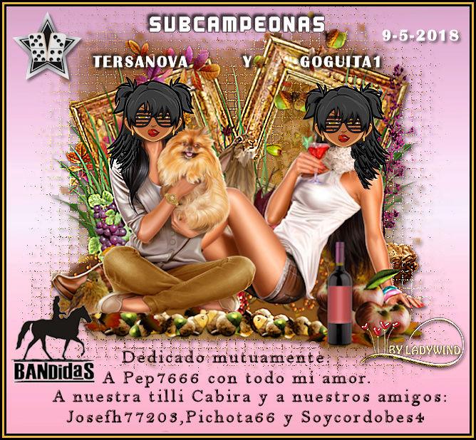 9/5/2018 CAMPEONES DESIREE272 Y LALOMBRIZ25 - SUBCAMPEONAS TERSANOVA Y GOGUITA1 9-5-su10