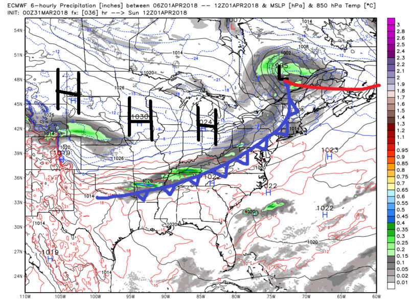 APRIL 2nd 2018 SNOW!!! Model Discussions AND Observations Ecmwf127