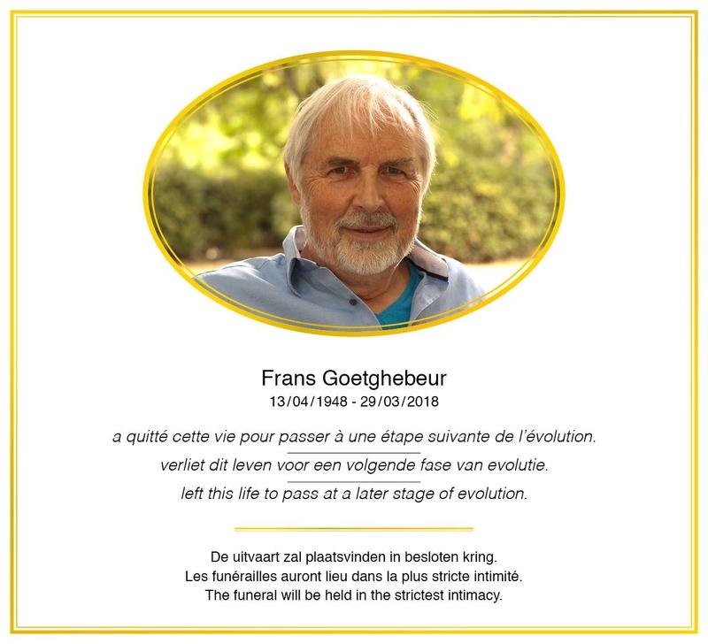 Un traducteur et un ami est mort , Frans Goetghebeur 29662510