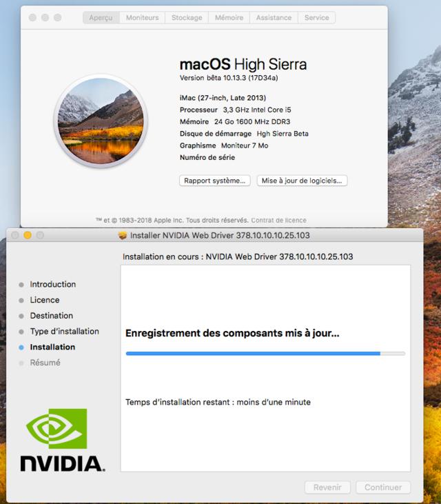 Beta macOS High Sierra Beta 10.13 1 (17B46a) a 10.13.2 Beta et +++ 129