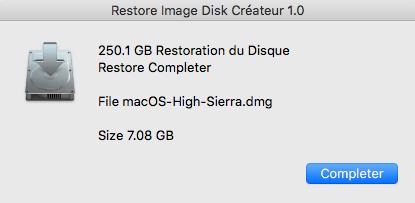macOS High Sierra Disk Créateur 2captu19