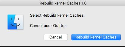 Command Rebuild kernel Caches Hackintosh Montréal France 318