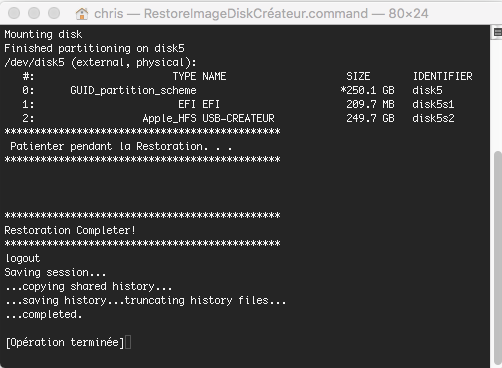 macOS High Sierra Disk Créateur 3captu12