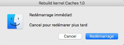 Command Rebuild kernel Caches Hackintosh Montréal France 414