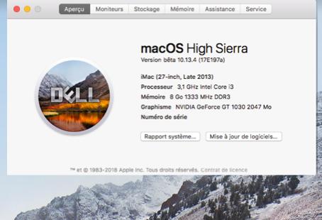 Beta macOS High Sierra Beta 10.13 1 (17B46a) a 10.13.2 Beta et +++ - Page 2 5ab98010