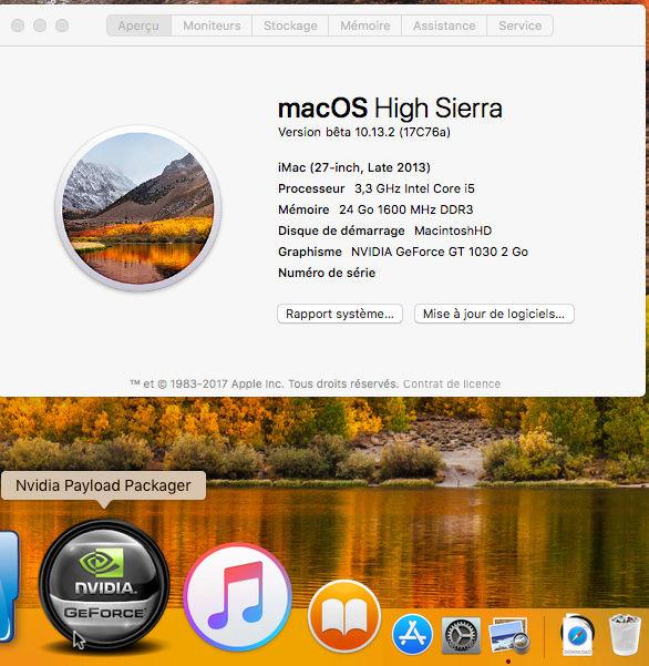 Beta macOS High Sierra Beta 10.13 1 (17B46a) a 10.13.2 Beta et +++ A10