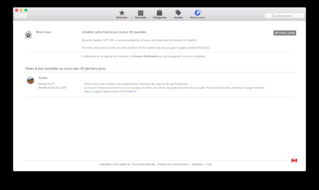 sécurité update   Captu127