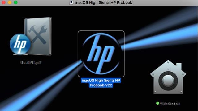 macOS High Sierra / macOS Sierra HP Probook Captu140