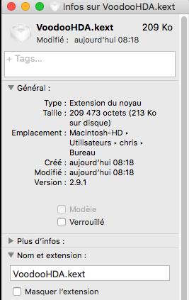 VoodooHDA macOS High Sierra Captu188