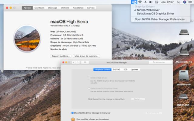 Beta macOS High Sierra Beta 10.13 1 (17B46a) a 10.13.2 Beta et +++ Captu286