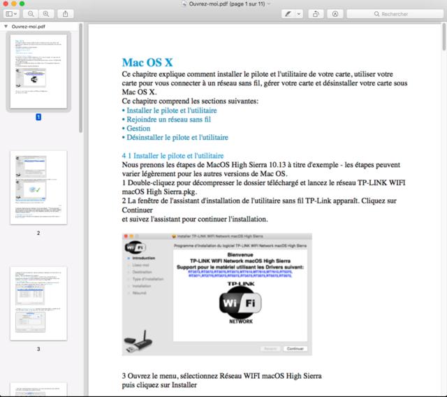 TP-LINK WIFI Network macOS Captu306