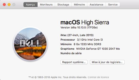 Beta macOS High Sierra Beta 10.13 1 (17B46a) a 10.13.2 Beta et +++ - Page 2 Captu459