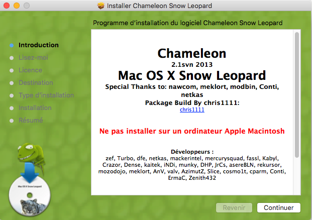 Chameleon Mac OS X Snow Leopard Captu494
