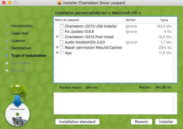 Chameleon Mac OS X Snow Leopard Captu495