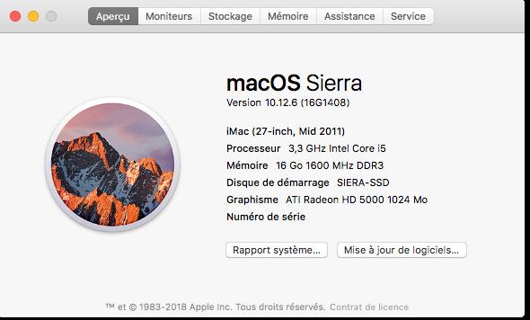 Mise a jour Sécurité 2018-003 Sierra 10.12.6 Captu606