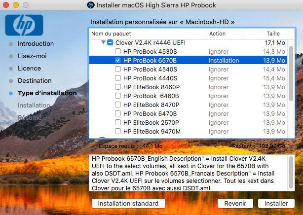 macOS High Sierra / macOS Sierra HP Probook Captur54