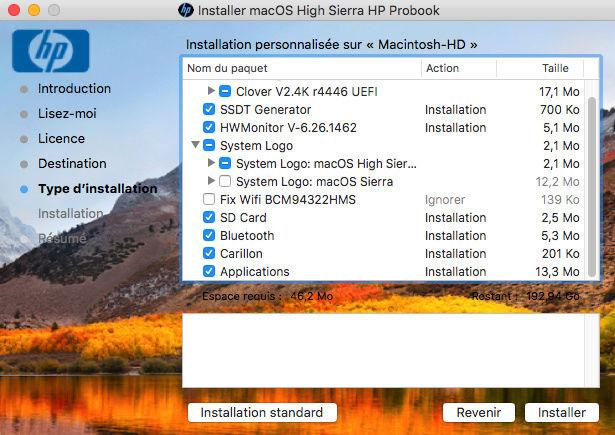 macOS High Sierra / macOS Sierra HP Probook Captur55